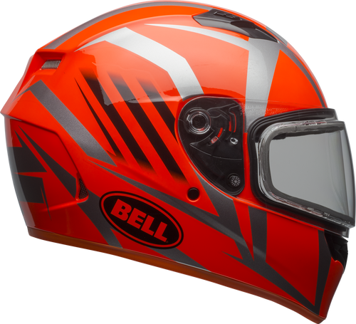 BELL QUALIFIER SNOW BLAZE GLOSS TITANIUM/ORANGE