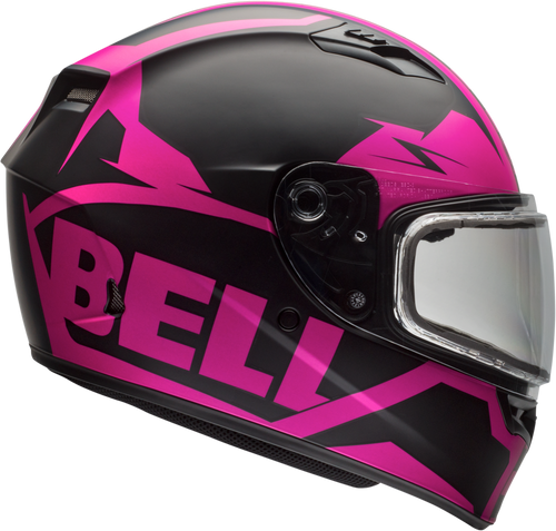 BELL QUALIFIER SNOW MATTE PINK/BLACK
