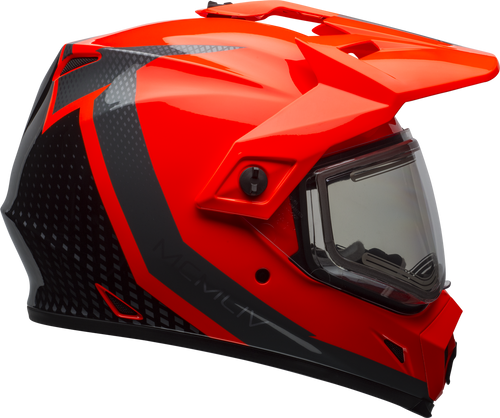 BELL MX-9 ADVENTURE SNOW W/ELECTRIC SHIELD SWITCHBACK REFLECT GLOSS BLACK/FLO ORANGE
