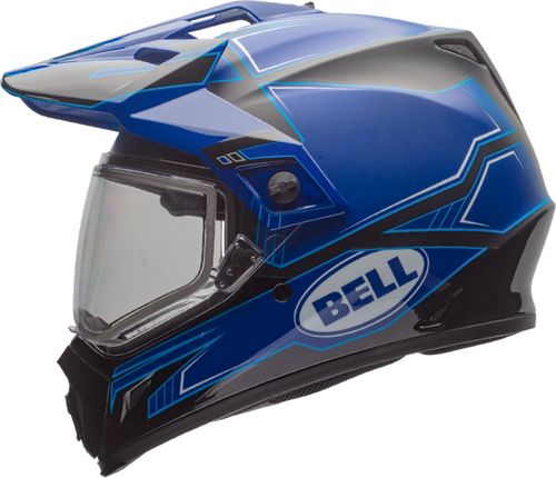 BELL MX-9 ADVENTURE SNOW MATTE/GLOSS BLUE
