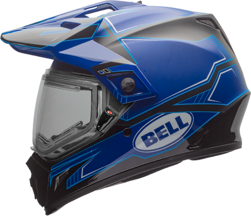 BELL MX-9 ADVENTURE SNOW W/ELECTRIC SHIELD MATTE/GLOSS BLUE