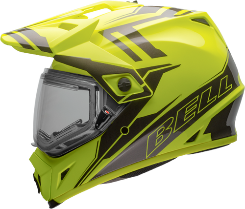 BELL MX-9 ADVENTURE SNOW W/ELECTRIC SHIELD GLOSS YELLOW/TITANIUM