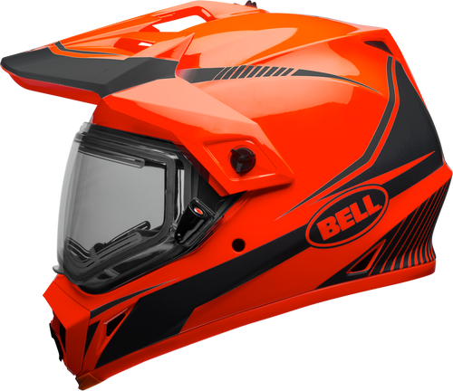 BELL MX-9 ADVENTURE SNOW W/ELECTRIC SHIELD TORCH GLOSS ORANGE/BLACK