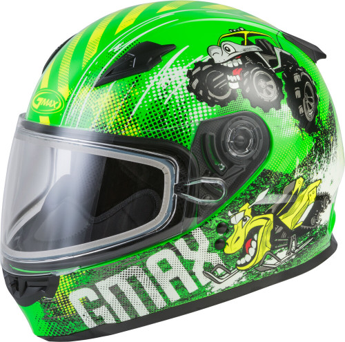GMAX GM-49Y Beasts Snow Youth Helmet Neon Green/Hi-Vis