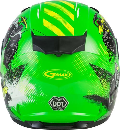 GMAX GM-49Y Beasts Snow Youth Helmet Neon Green/Hi-Vis