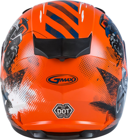 GMAX GM-49Y Beasts Snow Youth Helmet Orange/Blue/Grey