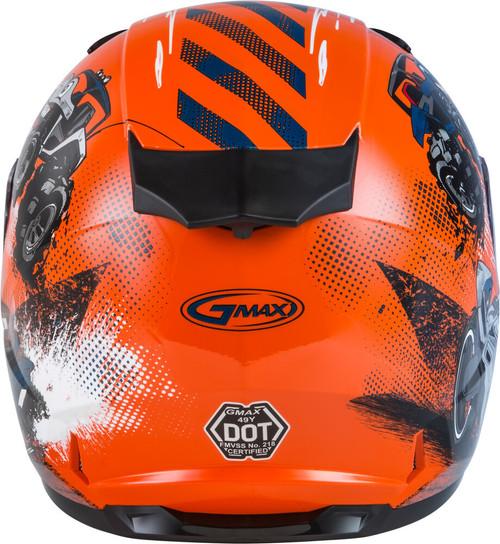GMAX GM-49Y Beasts Snow Youth Helmet Orange/Blue/Grey