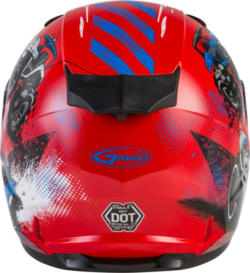 GMAX GM-49Y Beasts Snow Youth Helmet Red/Blue/Grey