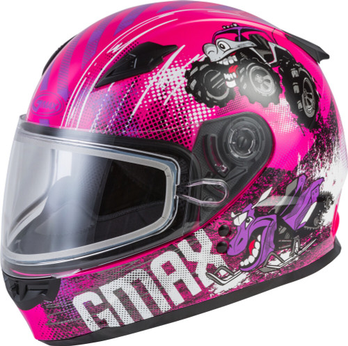 GMAX GM-49Y Beasts Snow Youth Helmet Pink/Purple/Grey