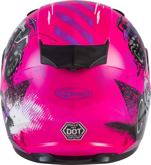 GMAX GM-49Y Beasts Snow Youth Helmet Pink/Purple/Grey