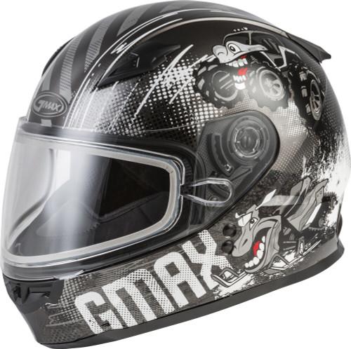 GMAX GM-49Y Beasts Snow Youth Helmet Dark Silver/Black