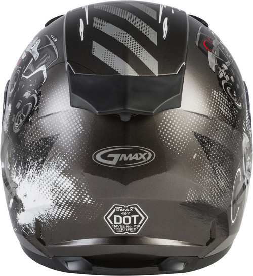 GMAX GM-49Y Beasts Snow Youth Helmet Dark Silver/Black