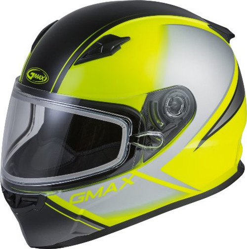 GMAX FF-49S Full-Face Hail Snow Helmet Matte Hi-Vis/Black/Grey