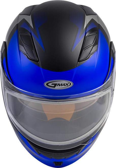 GMAX MD-01S Modular Snow Helmet Descendant Matte Black/Blue