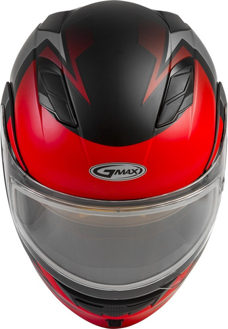 GMAX MD-01S Modular Snow Helmet Descendant Matte Black/Red