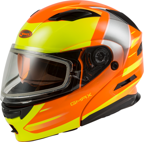GMAX MD-01S Modular Snow Helmet Descendant Neon Orange/Hi-Vis