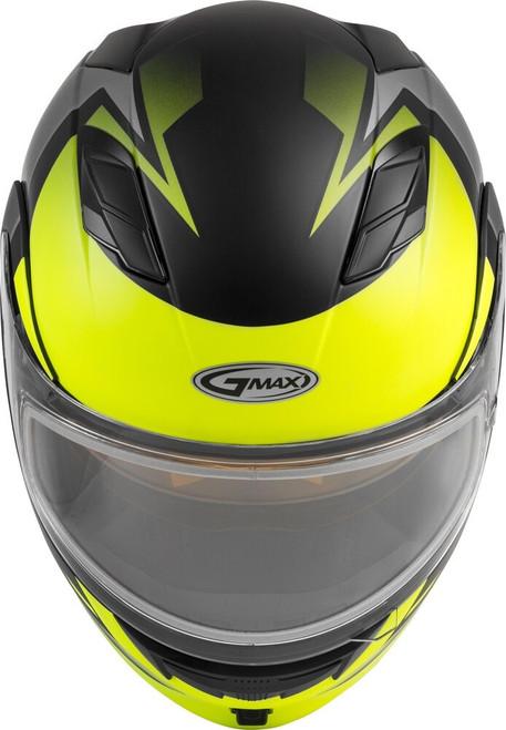 GMAX MD-01S Modular Snow Helmet Descendant Matte Black/Hi-Vis