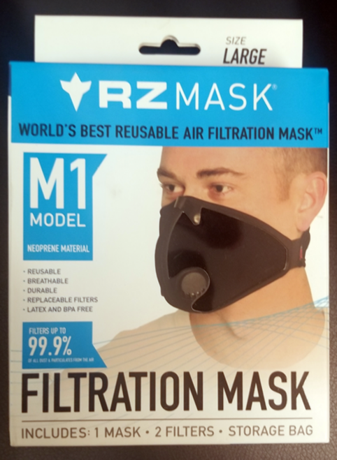 RZ Mask Adult Mask Large 125-215 Lbs. Black (83368)