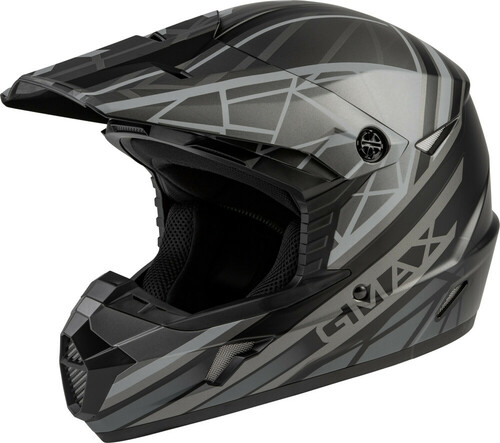 GMAX MX-46Y Mega Off-Road Youth Helmet Matte Black/Grey