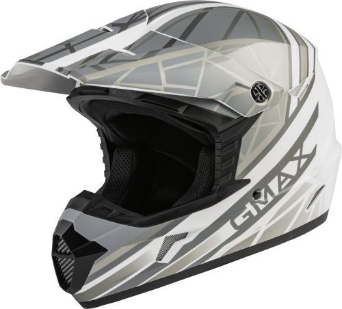 GMAX MX-46 Mega Off-Road Helmet Matte White/Silver