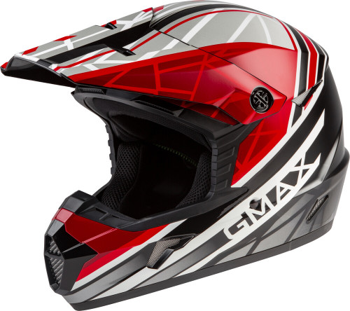 GMAX MX-46Y Mega Off-Road Youth Helmet Black/Red/White
