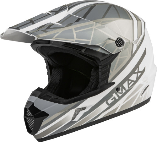 GMAX MX-46Y Mega Off-Road Youth Helmet Matte White/Silver