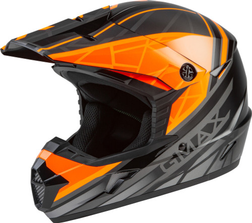 GMAX MX-46 Mega Off-Road Helmet Black/Orange/Silver