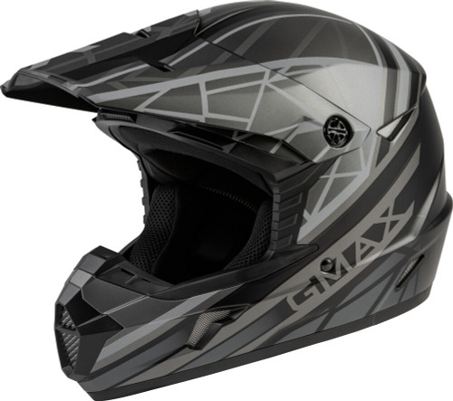 GMAX MX-46 Mega Off-Road Helmet Matte Black/Grey