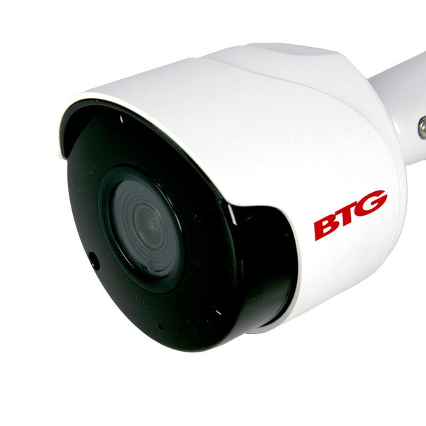 BTG 5MP Audio PoE IP Camera Security Video Outdoor Indoor 5 Megapixel Bullet Home Video Surveillance Camera 2592 x 1944P 3.6mm IR 100ft Night Vision IP66 Waterproof Motion Detection