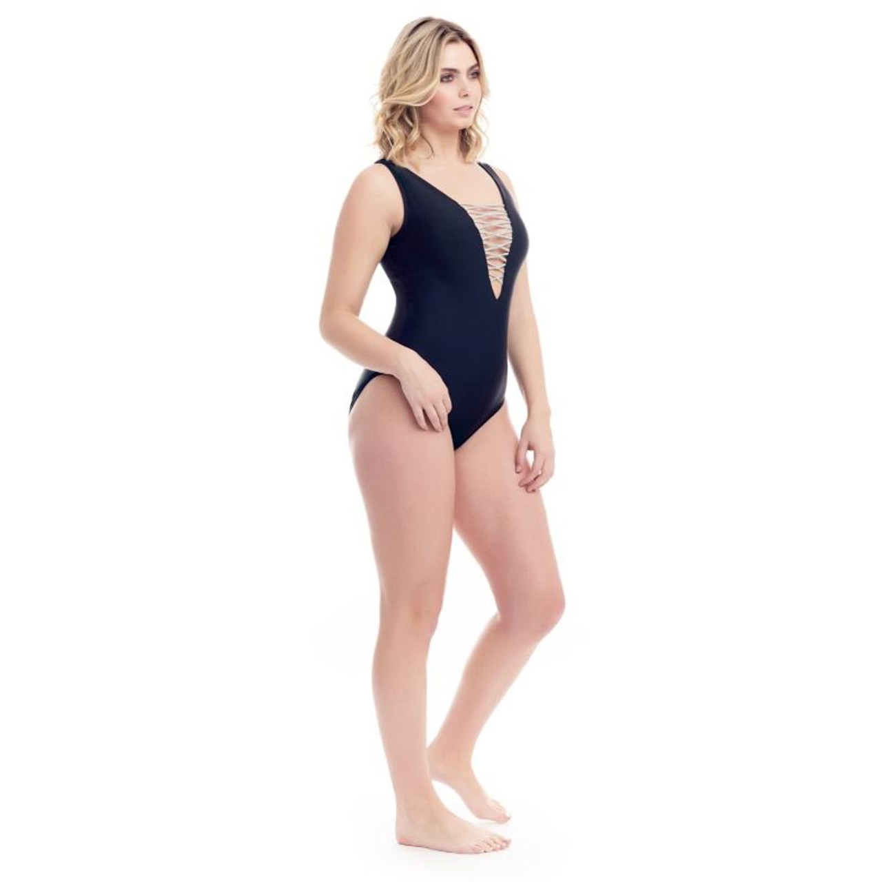 Cover Girl Women's Lace Up One-Piece Swimsuit