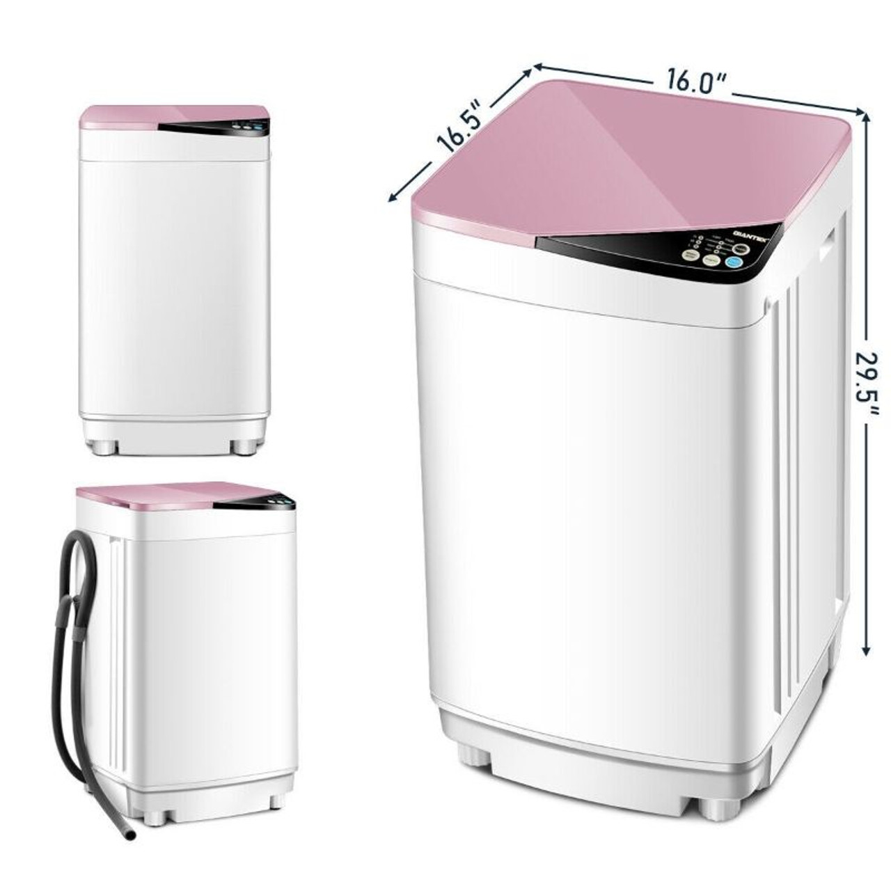 Full-automatic 7.7lbs Germicidal Washing Machine Washer and Spinner