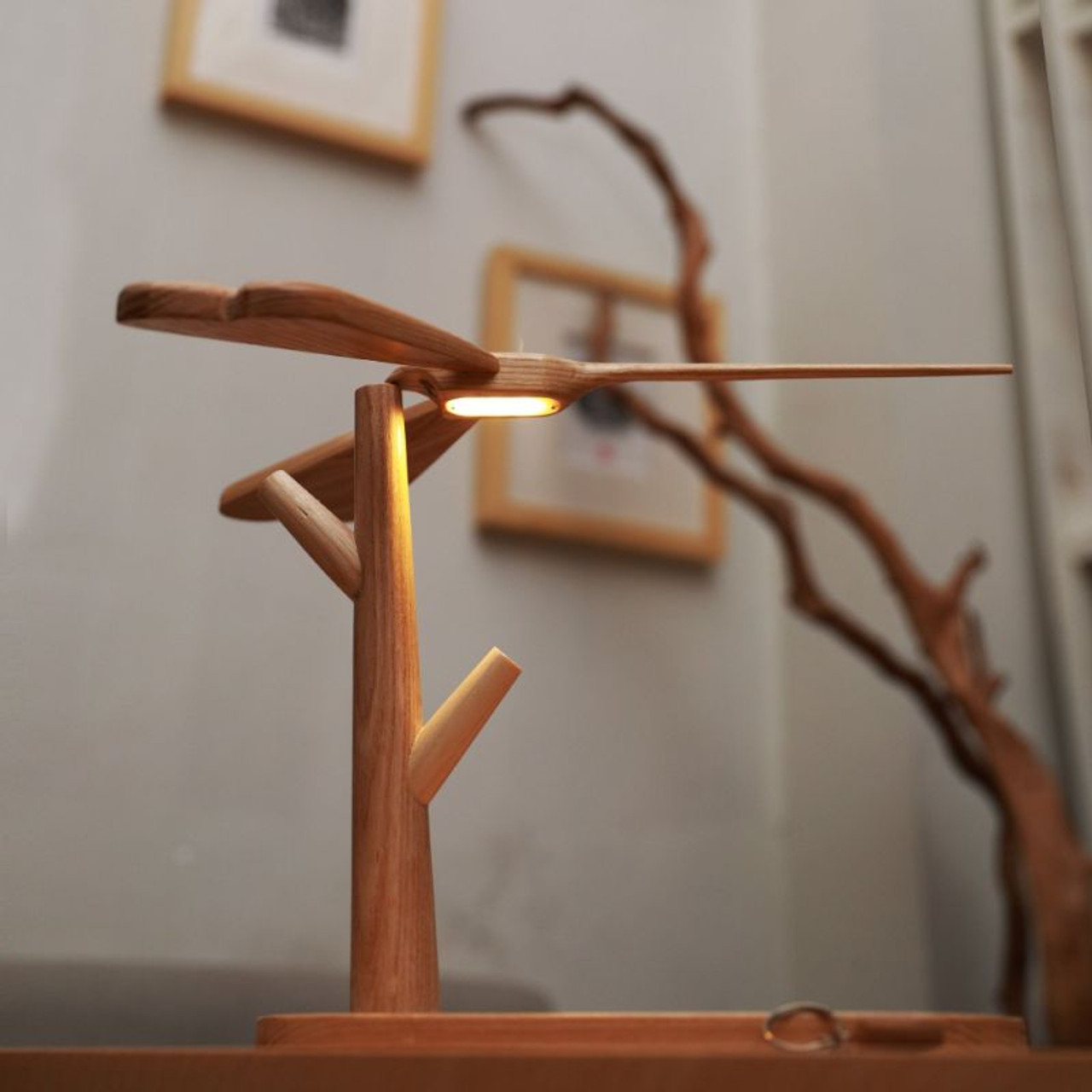 Floating Carved Dragonfly Touch Lamp Light