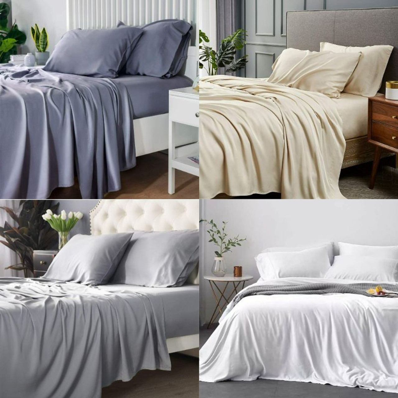 Bamboo 300 Thread Count Cooling 4-Piece Sheet Set