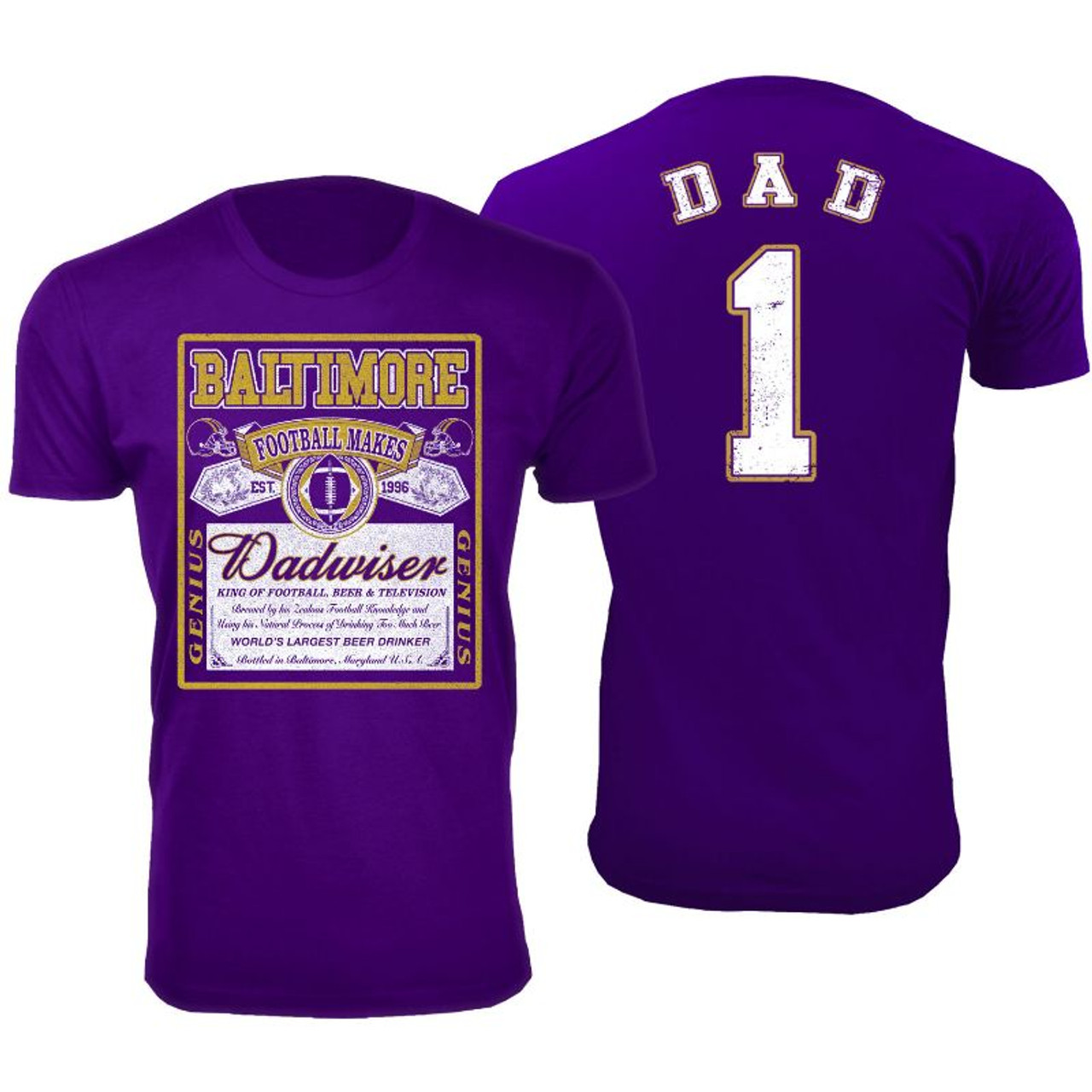 Men's Perfect Gift for Dad Dadwiser Football T-Shirts