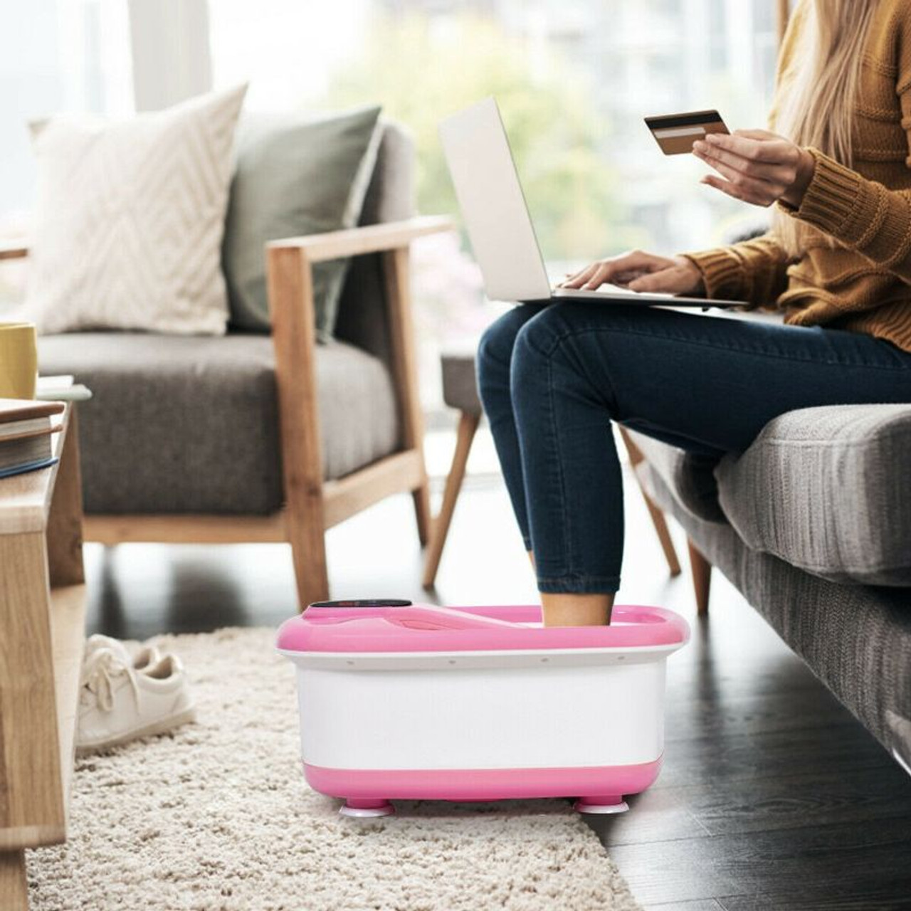 Portable Electric Automatic Roller Foot Bath Massager