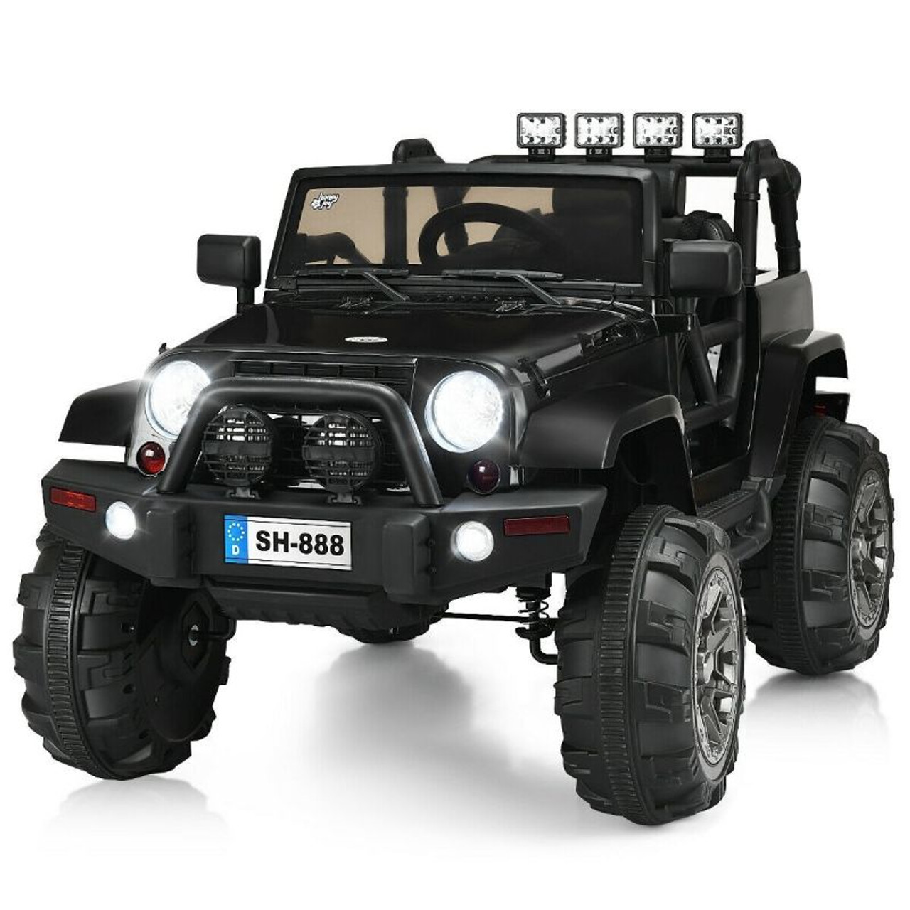 12V Kids Remote Control Riding Truck with LED Lights