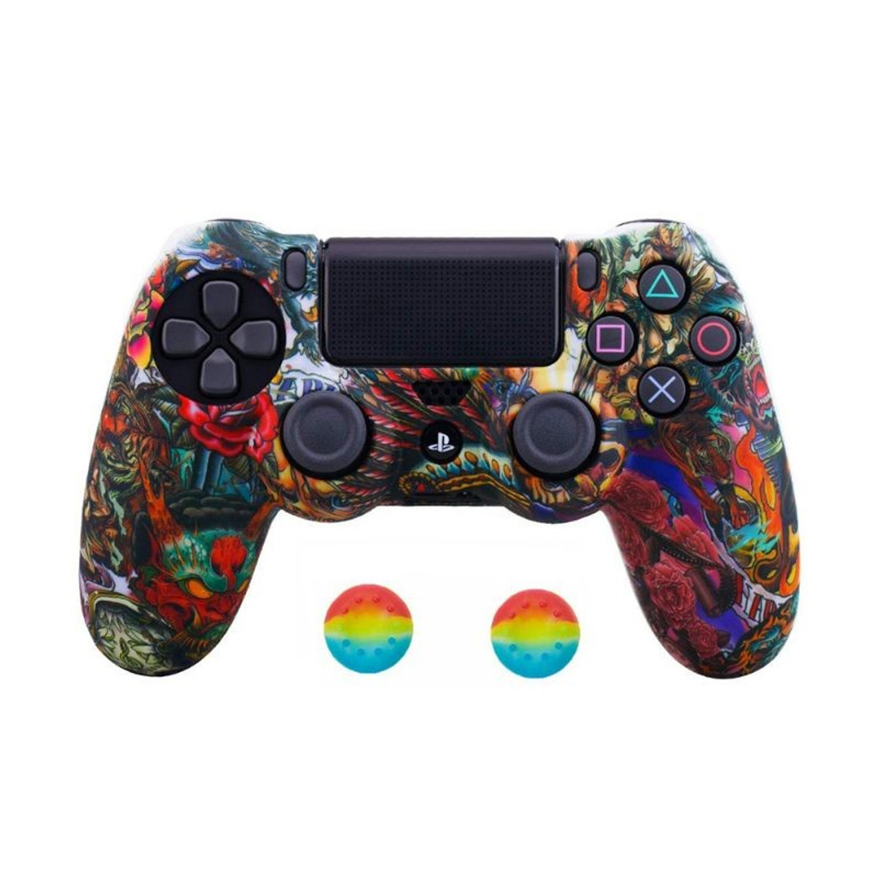 PS4 Silicone Cover and Thumb Grip Set