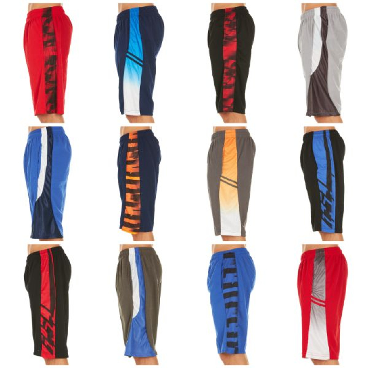 Men's Active Athletic Performance Shorts - 4 Pack