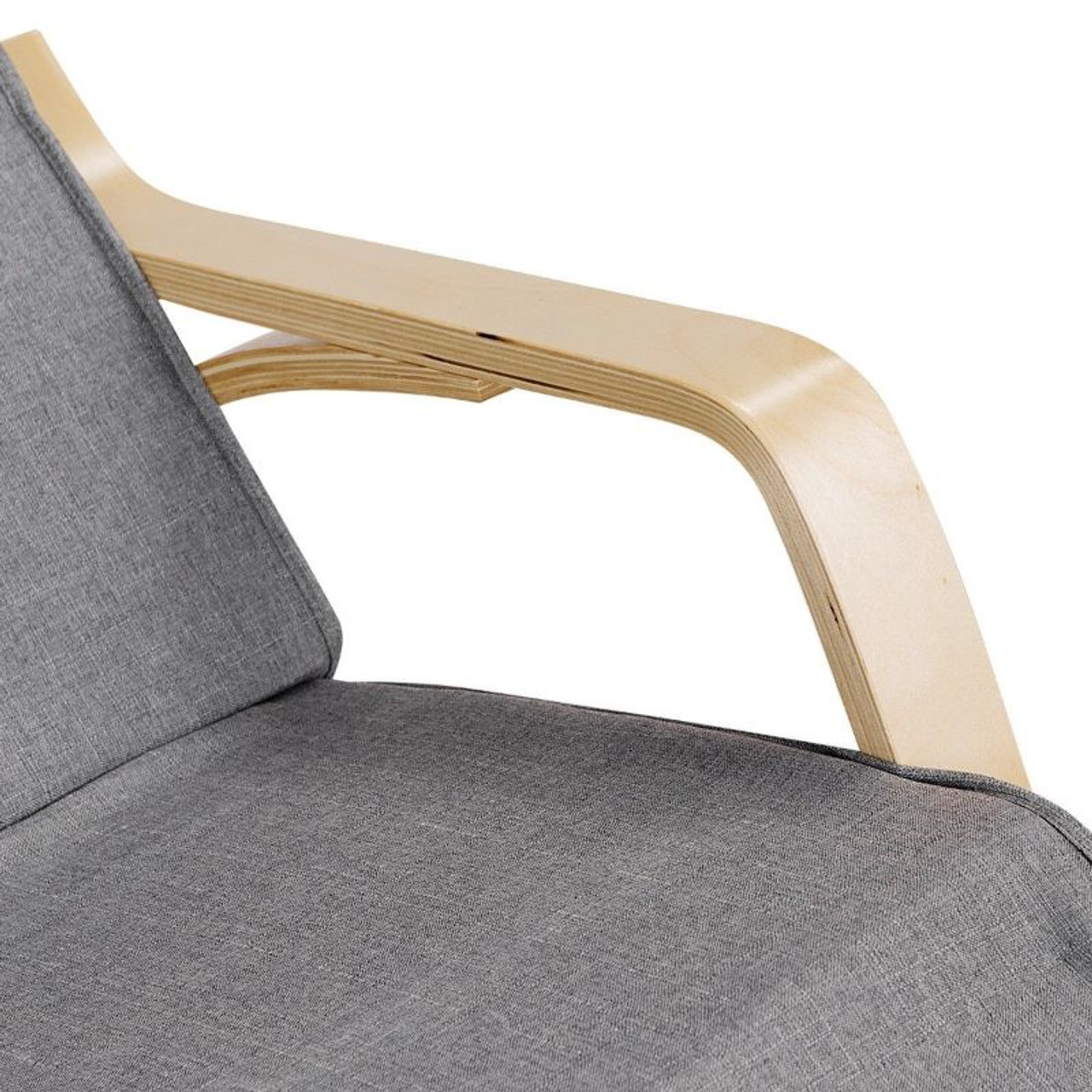 Relaxing Adjustable Lounge Rocking Chair with Pillow and Pocket