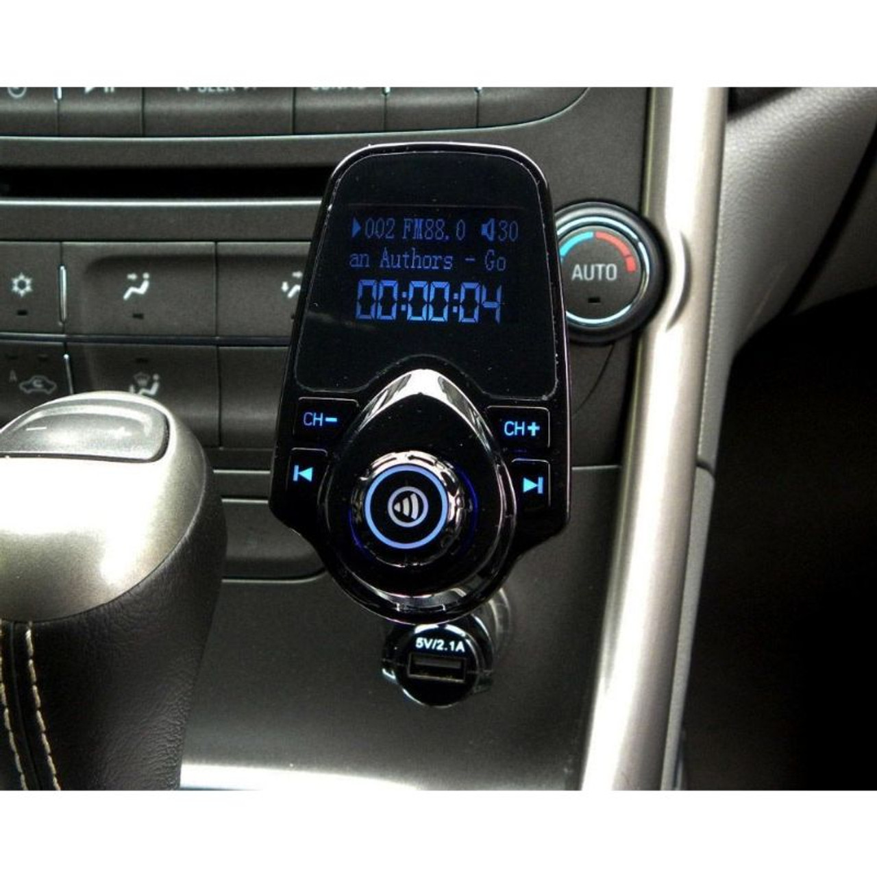 In-Car Bluetooth Adapter Transmitter with LCD Display