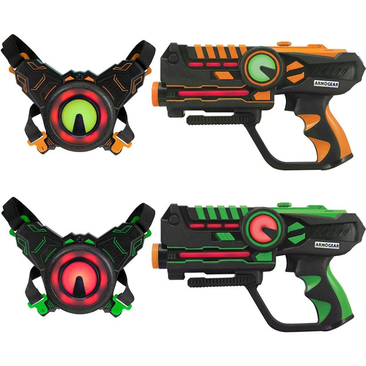 ArmoGear Infrared Laser Tag Guns and Vests Battle Game - 2 Pack
