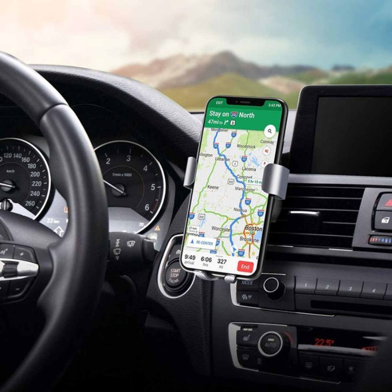 Fast Wireless Car Charger and Mount for iPhone, Samsung and all Qi Devices
