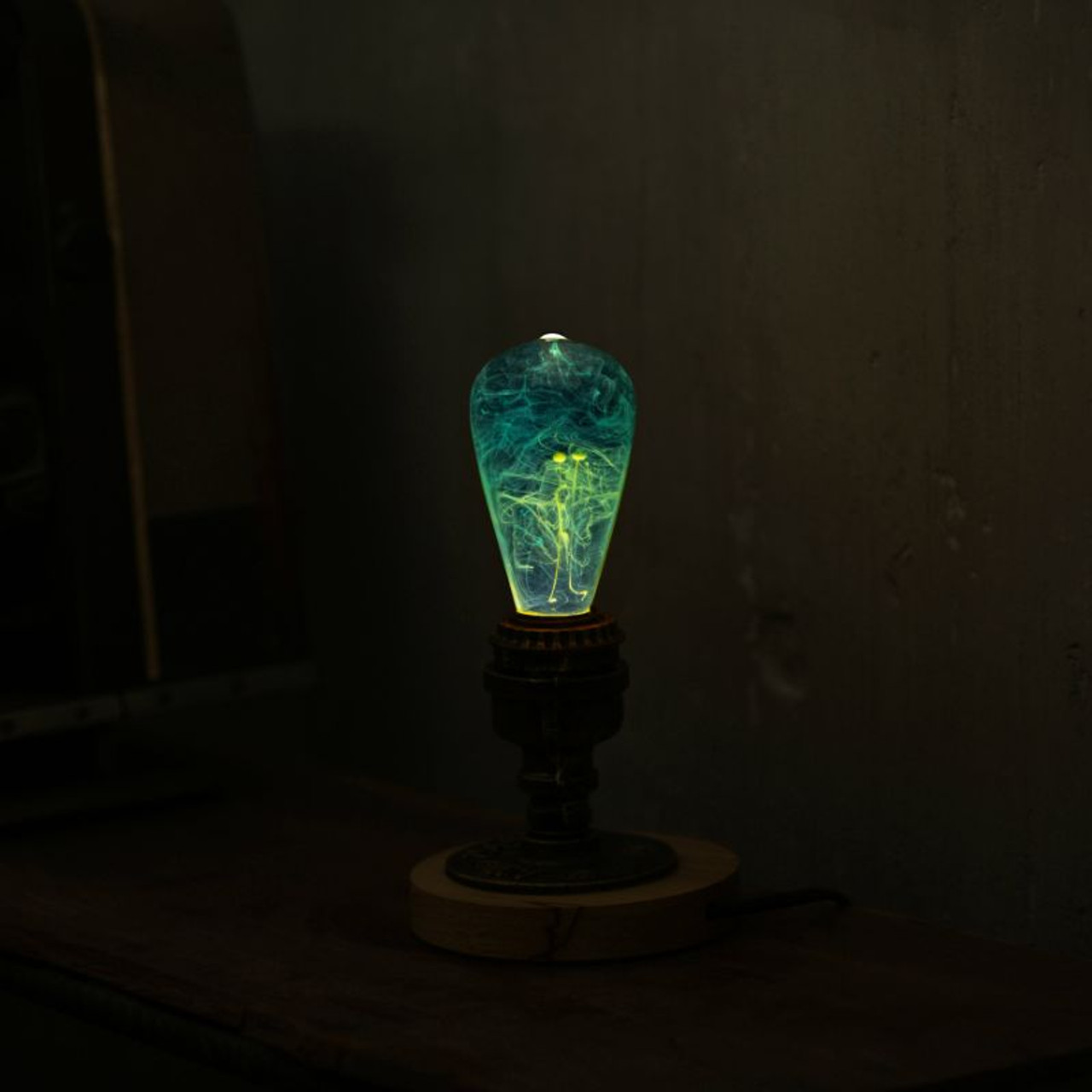 EP Light Mind Bulb Art Fixture Lamp with Optional Modern or Vintage Base Stand