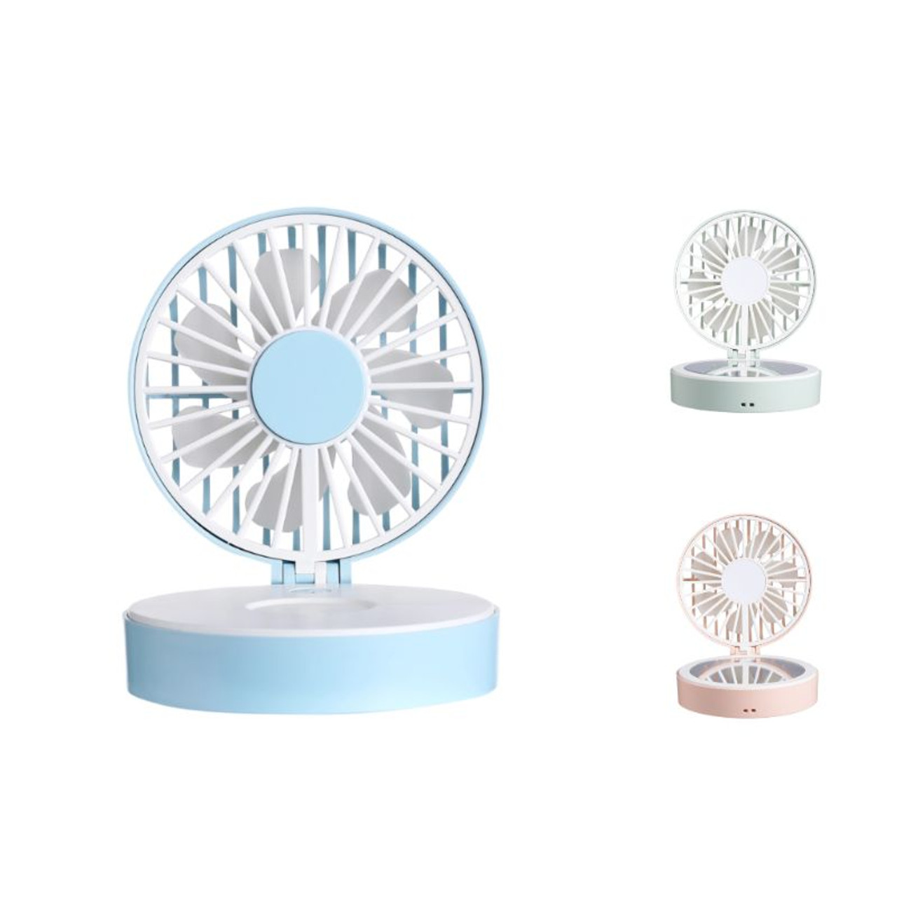 Rechargeable Compact Fan with Mirror