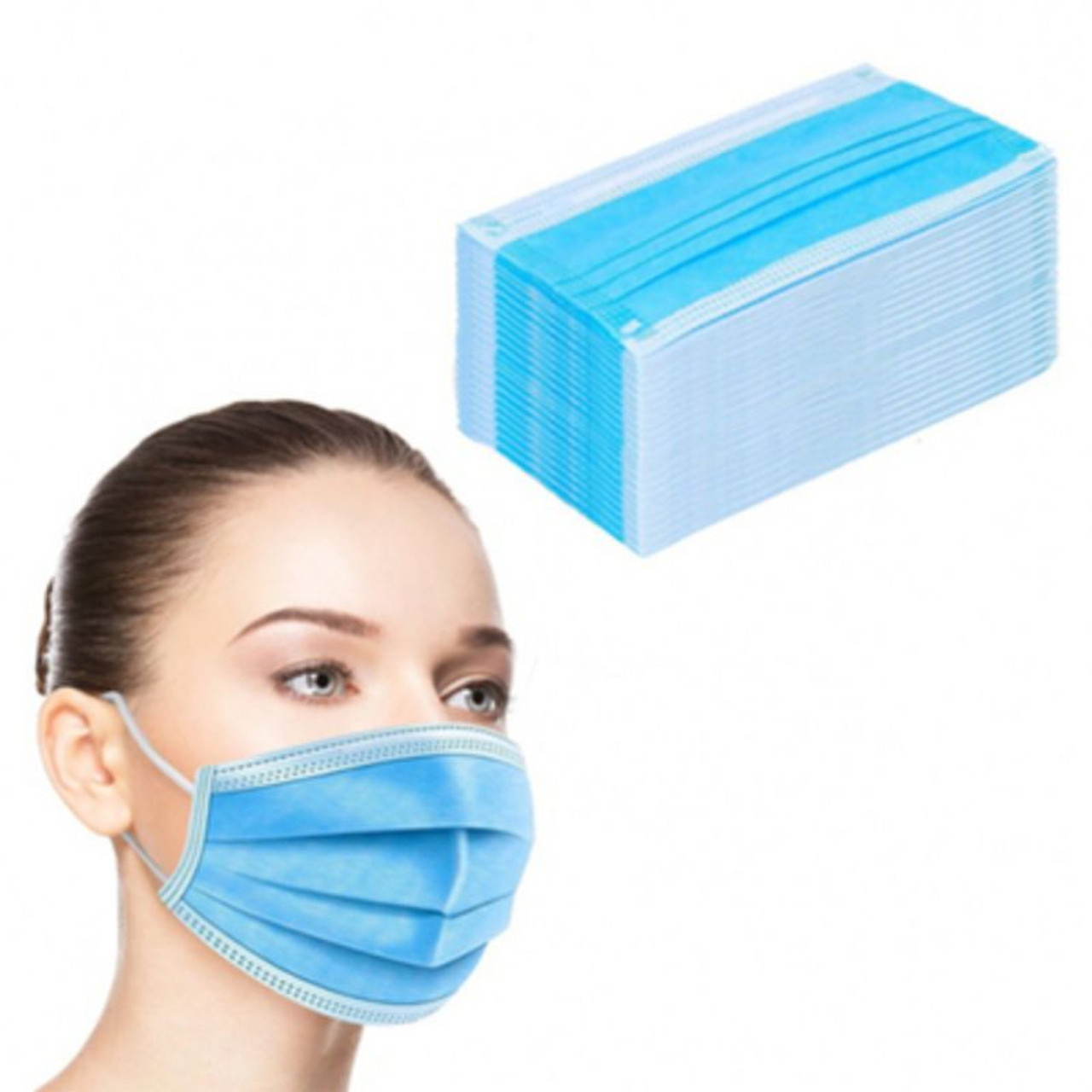 Disposable Non-Medical 3-Ply Face Masks - 100 Pack