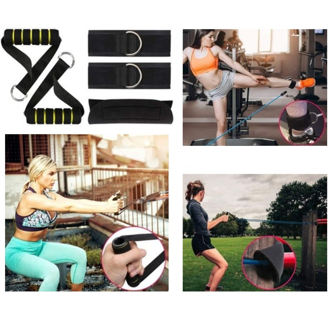 Fitness Resistance Bands Set with Door Anchor