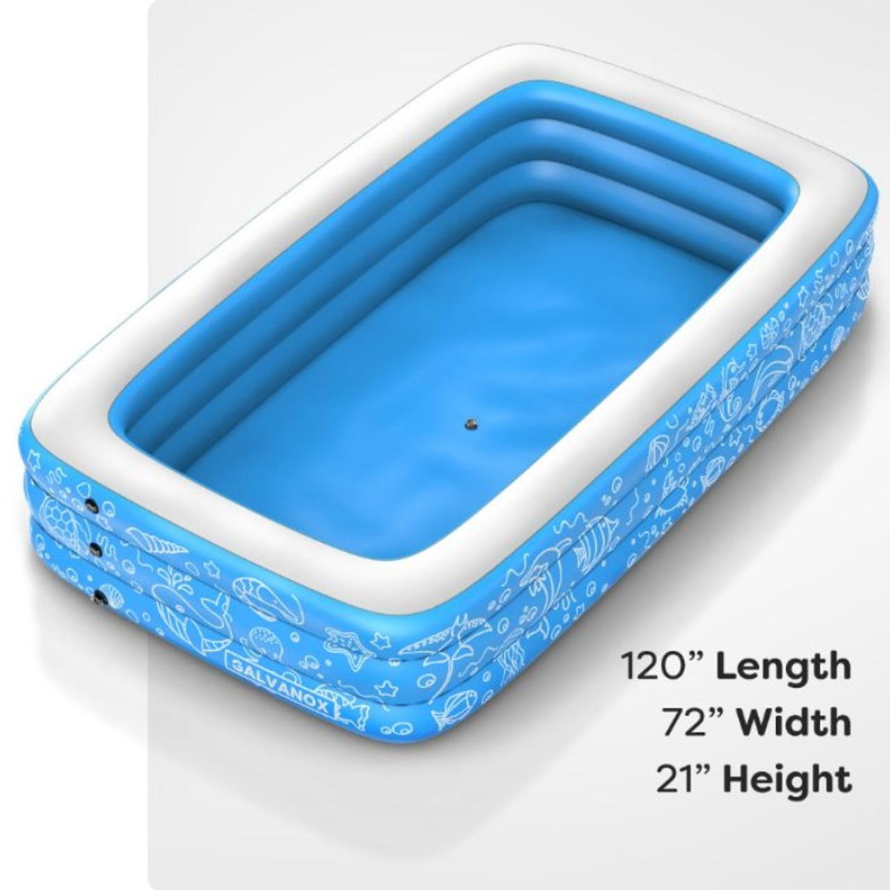 Extra Large Above Ground Family Sized Inflatable Pool - 10' x 6' ft