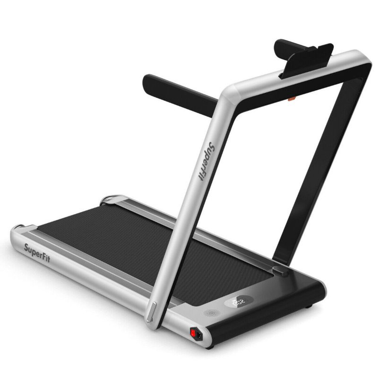 2 in 1 Folding Treadmill Dual Display with Bluetooth Speaker