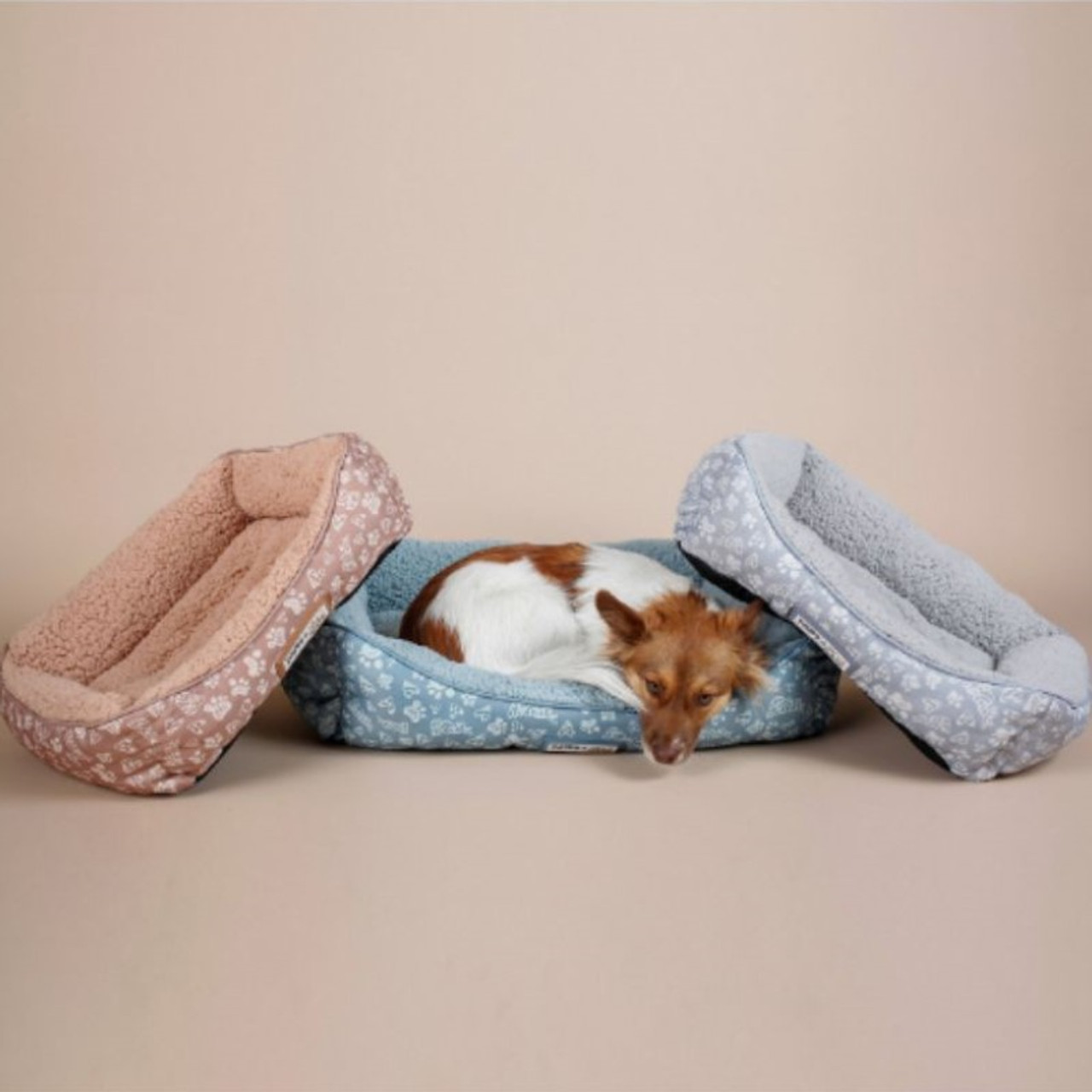 Paws & Pals Self-Warming Machine Washable Bolster Cat & Dog Bed