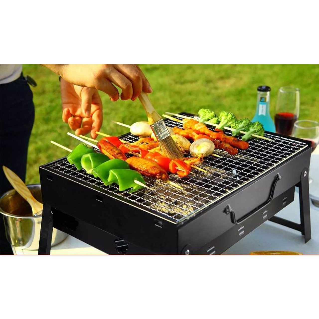 """17"""" Foldable Portable Tabletop Charcoal Grill"""
